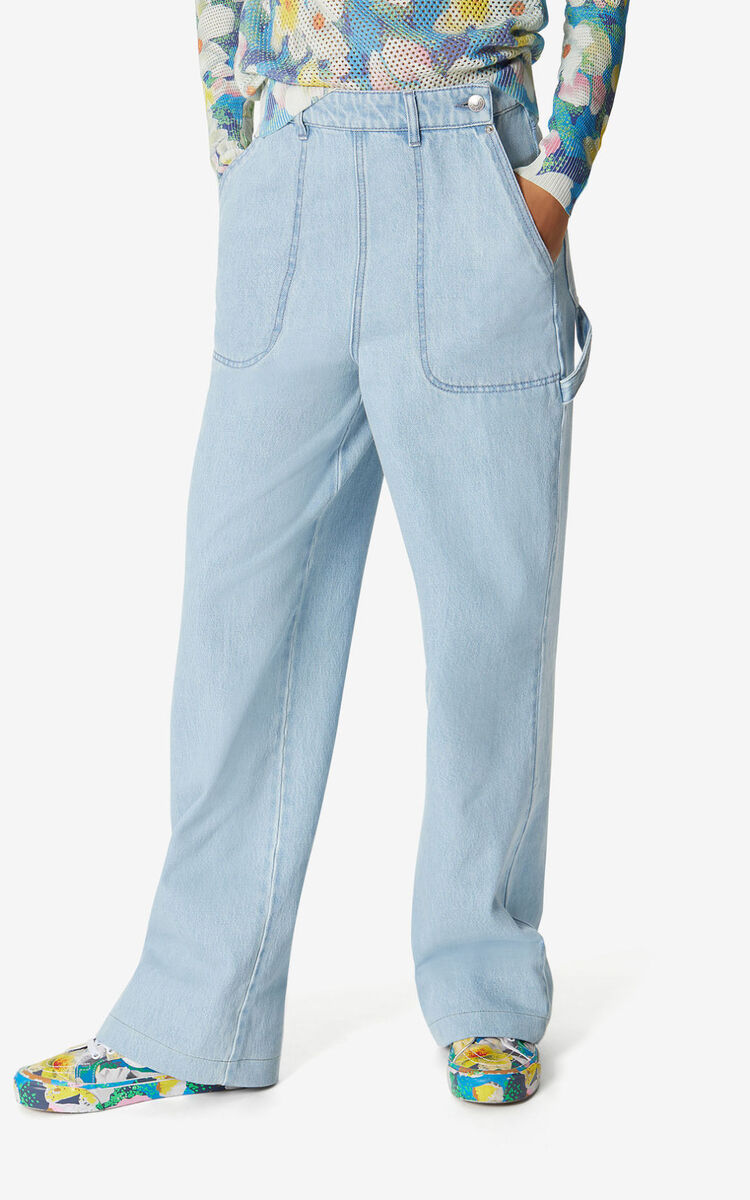 SKY BLUE Faded flared jeans for women KENZO