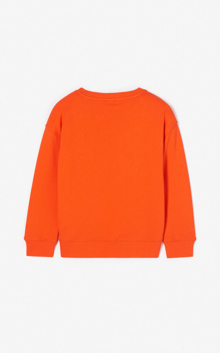 MEDIUM ORANGE 'Dragon Tiger' sweatshirt for men KENZO