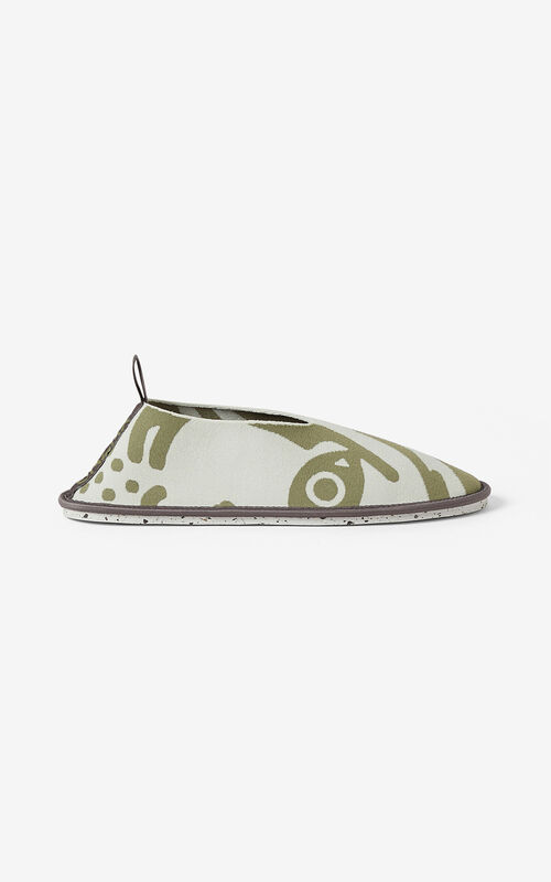 SAGE GREEN K-Tiger K-Knit loafers for unisex KENZO