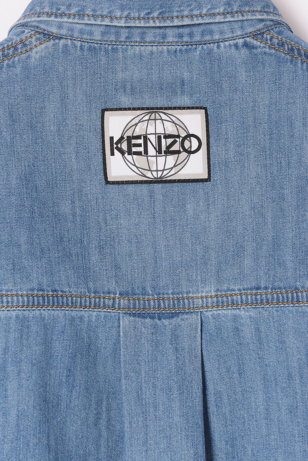 NAVY BLUE Badges Boyfriend Shirt for women KENZO