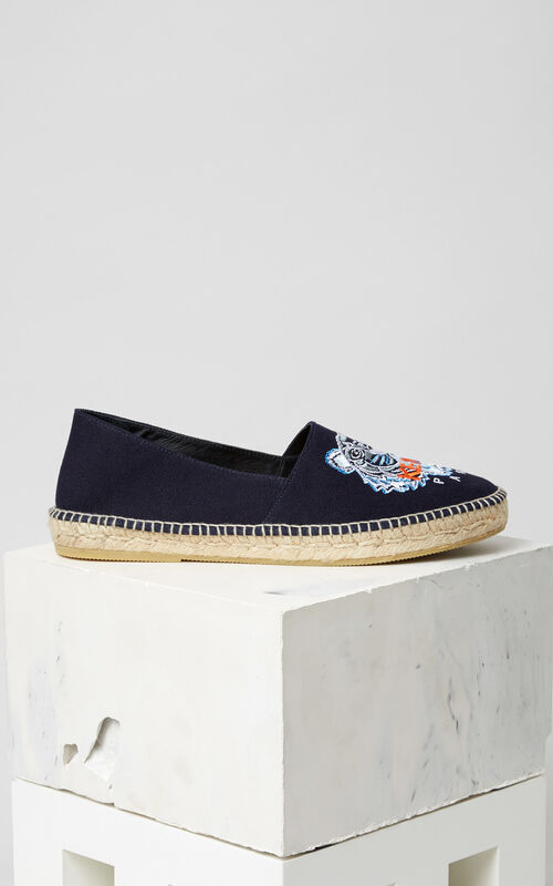 BLUE Tiger Espadrilles for men KENZO