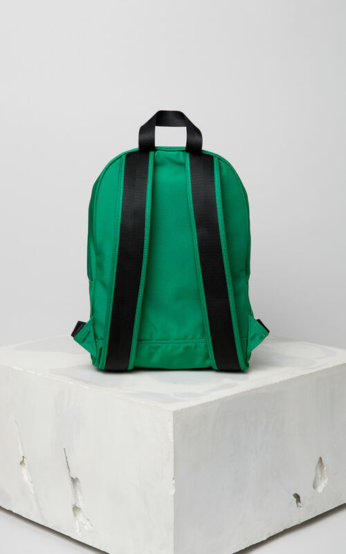 GRASS GREEN Medium Tiger Canvas backpack for men KENZO