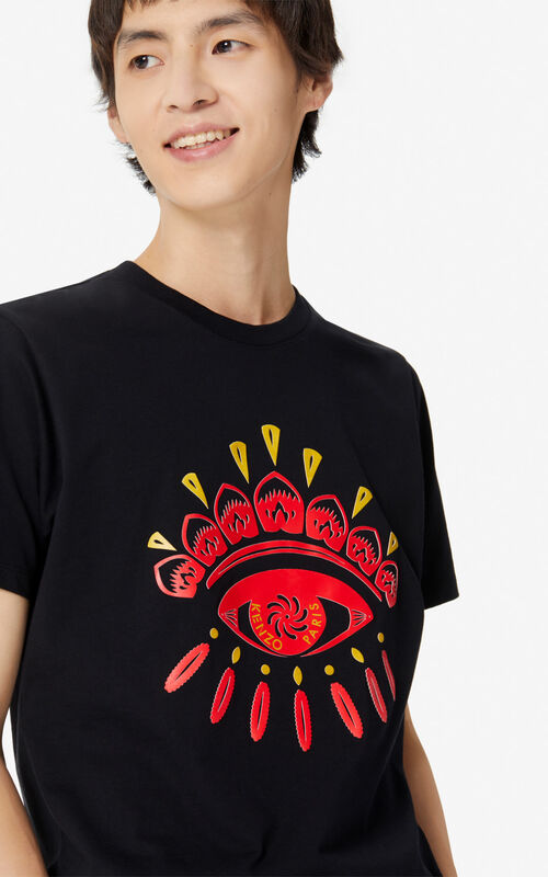 BLACK 'Chinese New Year Capsule' Eye t-shirt for men KENZO