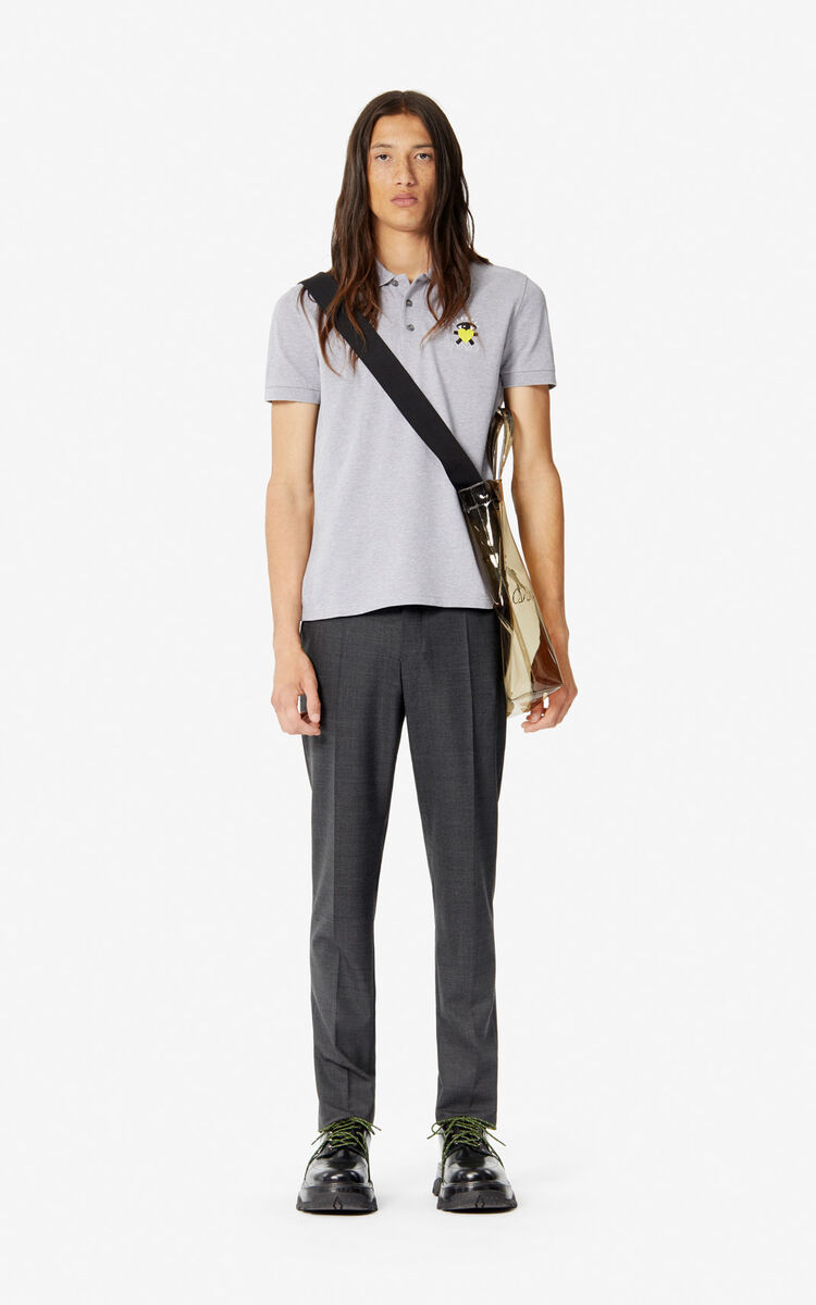 PEARL GREY Fitted 'Cupid' polo shirt 'Capsule Back from Holidays' for women KENZO