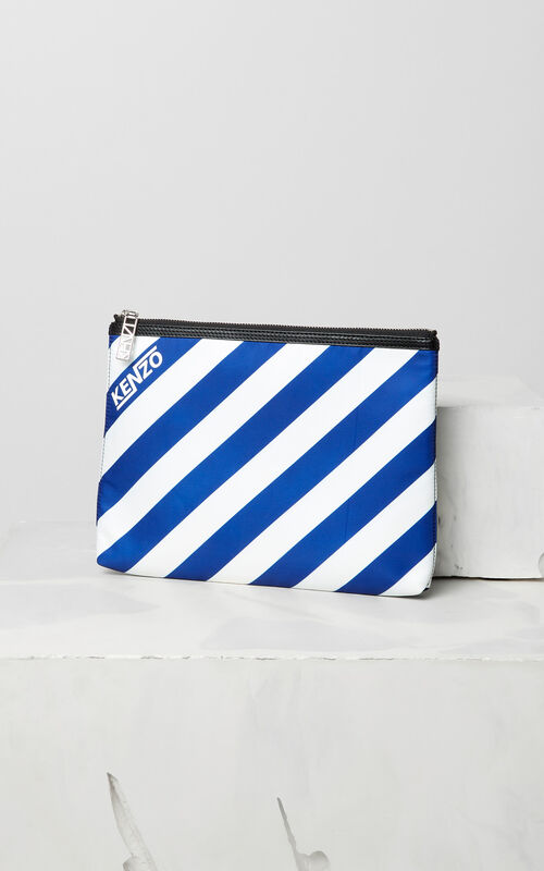 "DEEP SEA BLUE 'Hyper KENZO"" clutch for unisex"