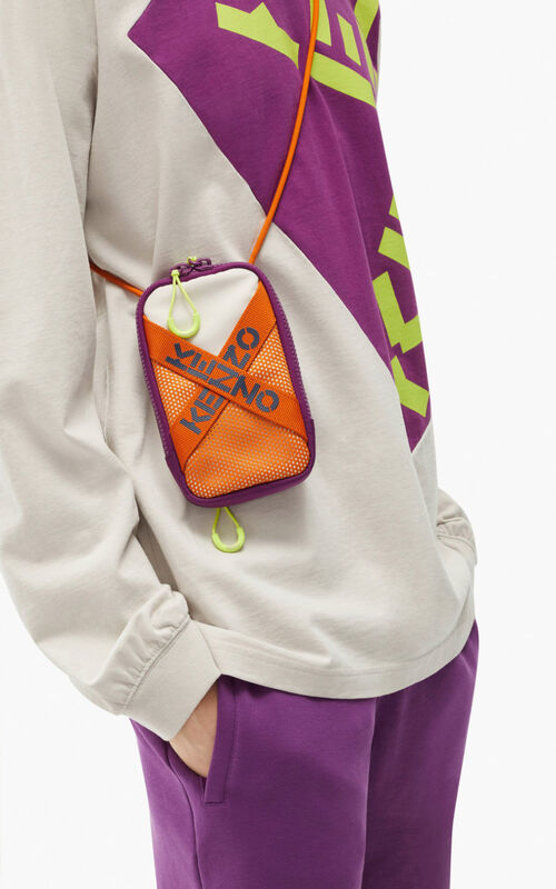 PURPLE KENZO Sport phone holder with strap for women