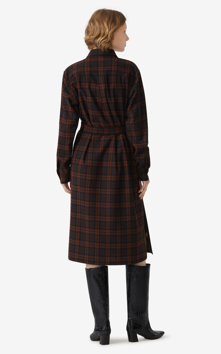DARK BROWN Shirt dress for women KENZO