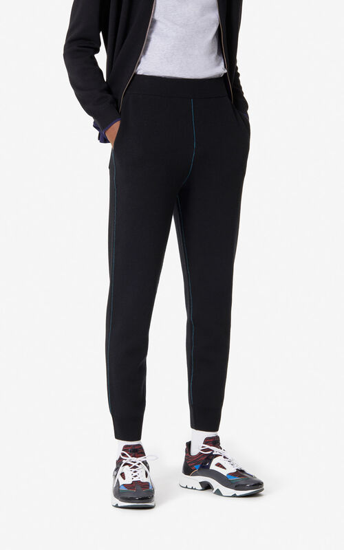 BLACK Wool and cashmere jogging for men KENZO