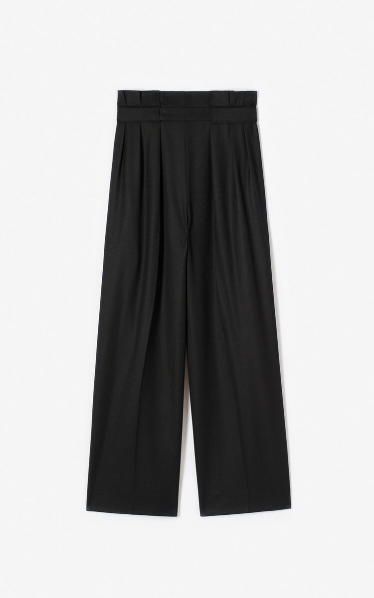 BLACK Cropped 'Capsule Expedition' culottes for women KENZO