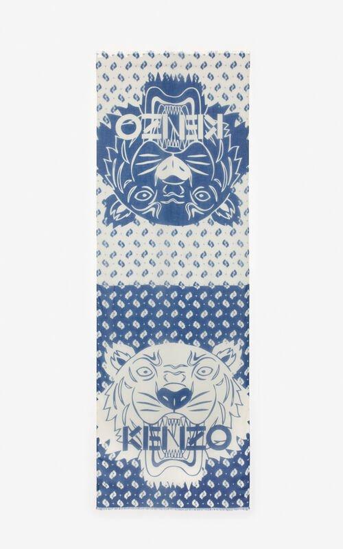 INK Two-tone Tiger scarf for unisex KENZO