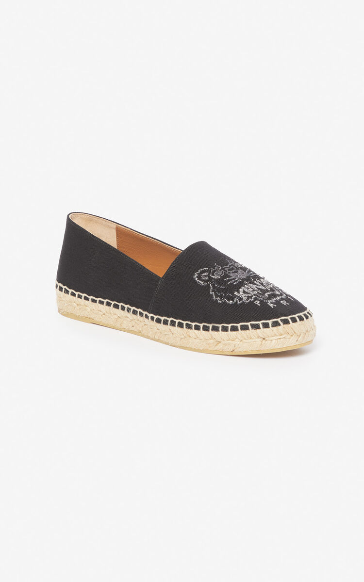 BLACK Tiger espadrilles  'Holiday Capsule' for unisex KENZO