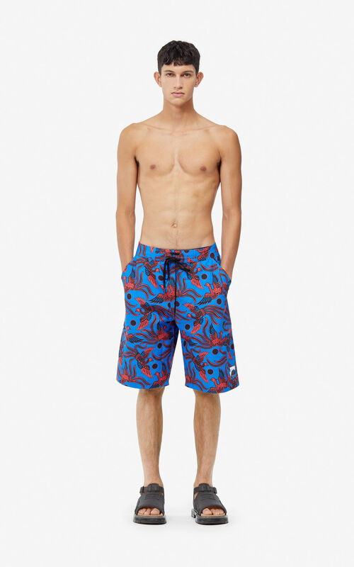 650df689bc COBALT 'Flying Phoenix' swim trunks for men KENZO ...