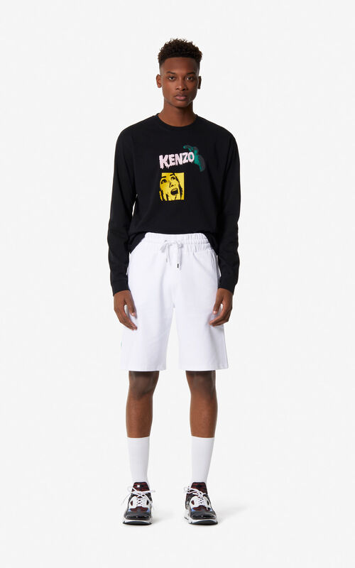 WHITE 'High Summer Capsule Collection' KENZO Logo shorts for men