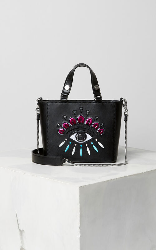 BLACK Small Eye tote bag for unisex KENZO