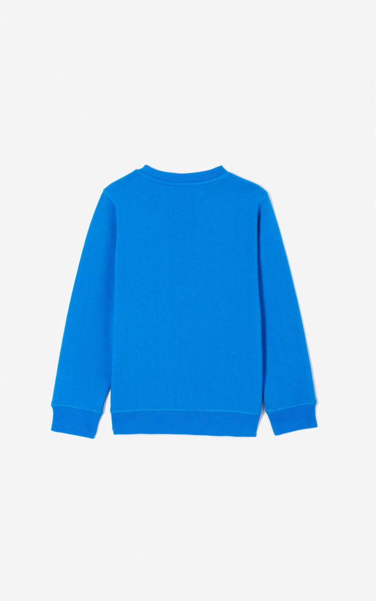 SLATE BLUE Tiger sweatshirt for men KENZO