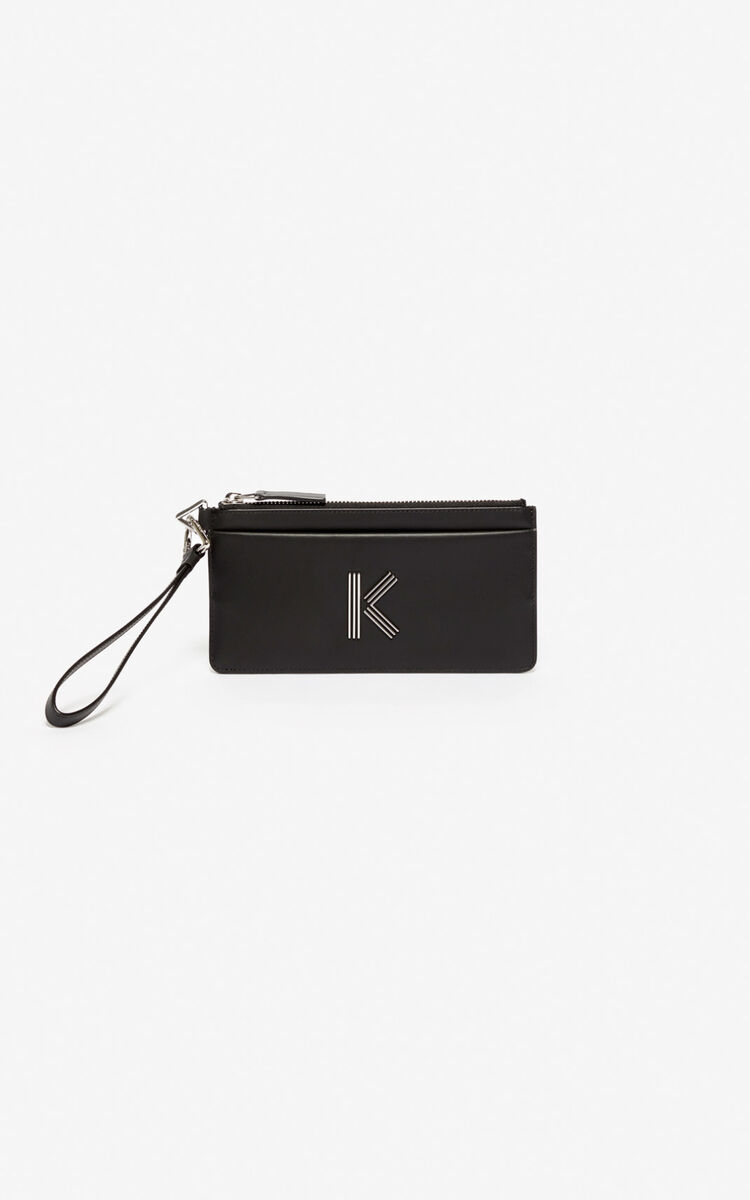 BLACK K-Bag wallet for unisex KENZO