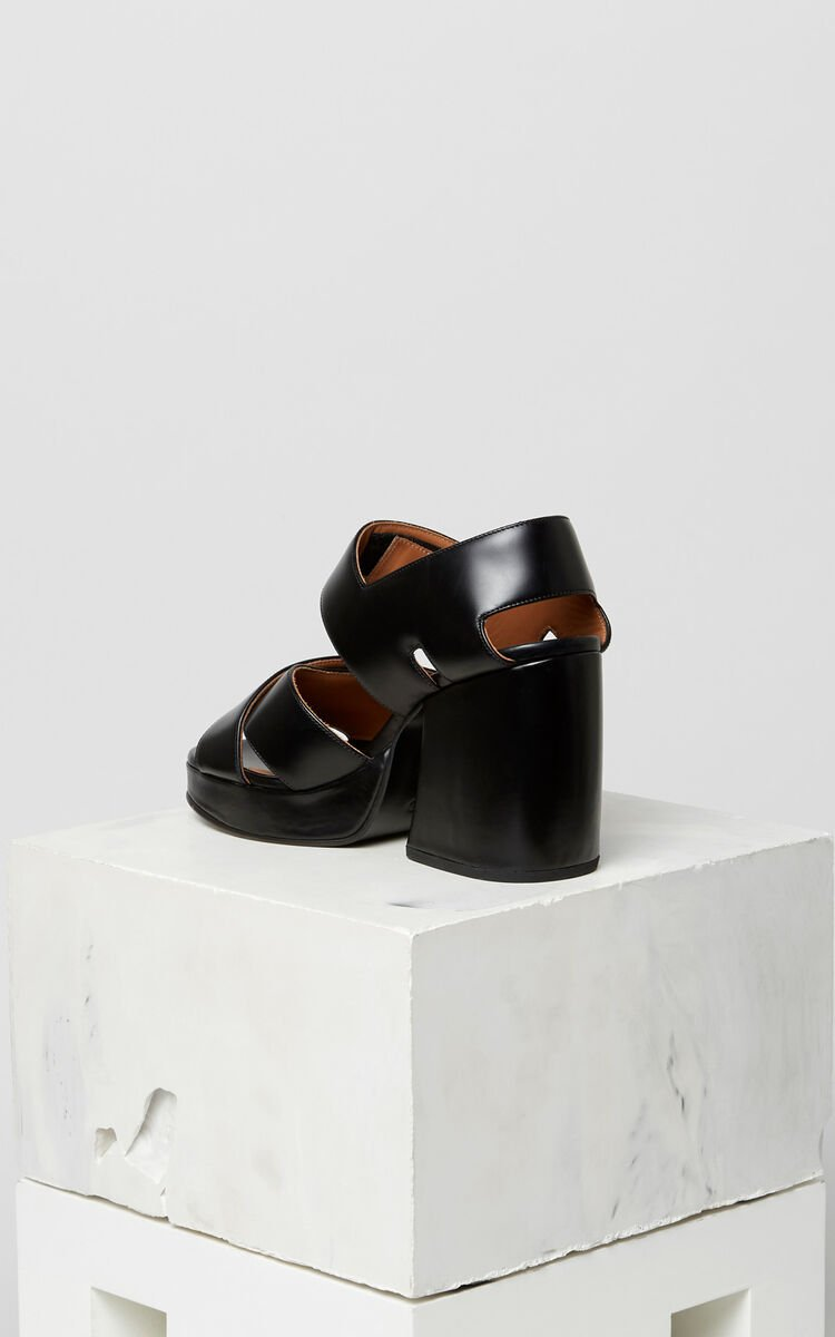 BLACK Aori heeled sandals for women KENZO