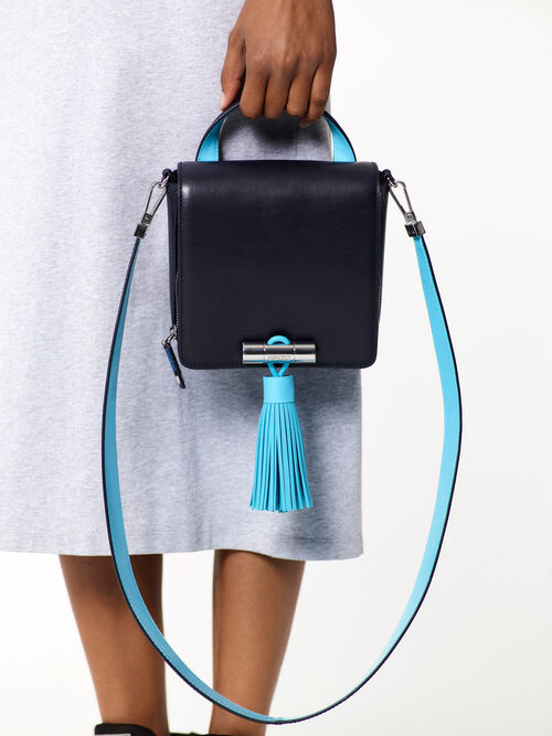NAVY BLUE Color-block Sailor bag for women KENZO