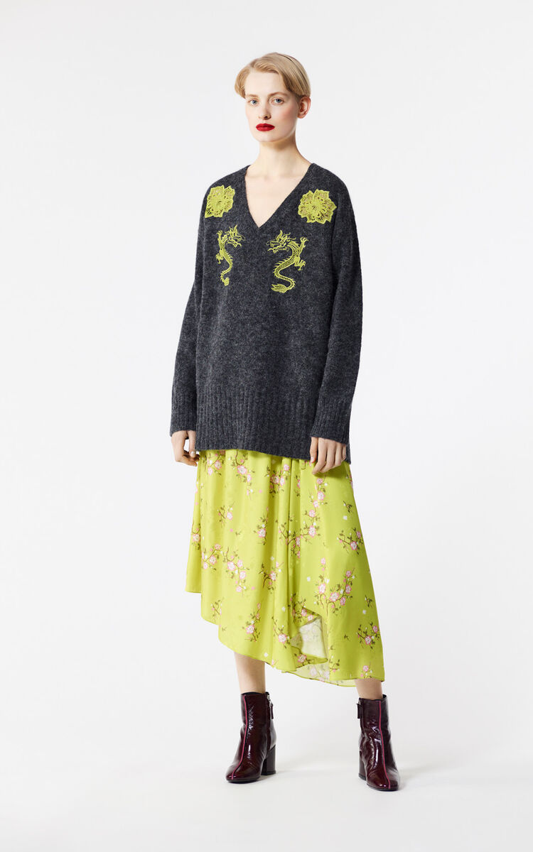 ANTHRACITE Alpaca jumper for women KENZO