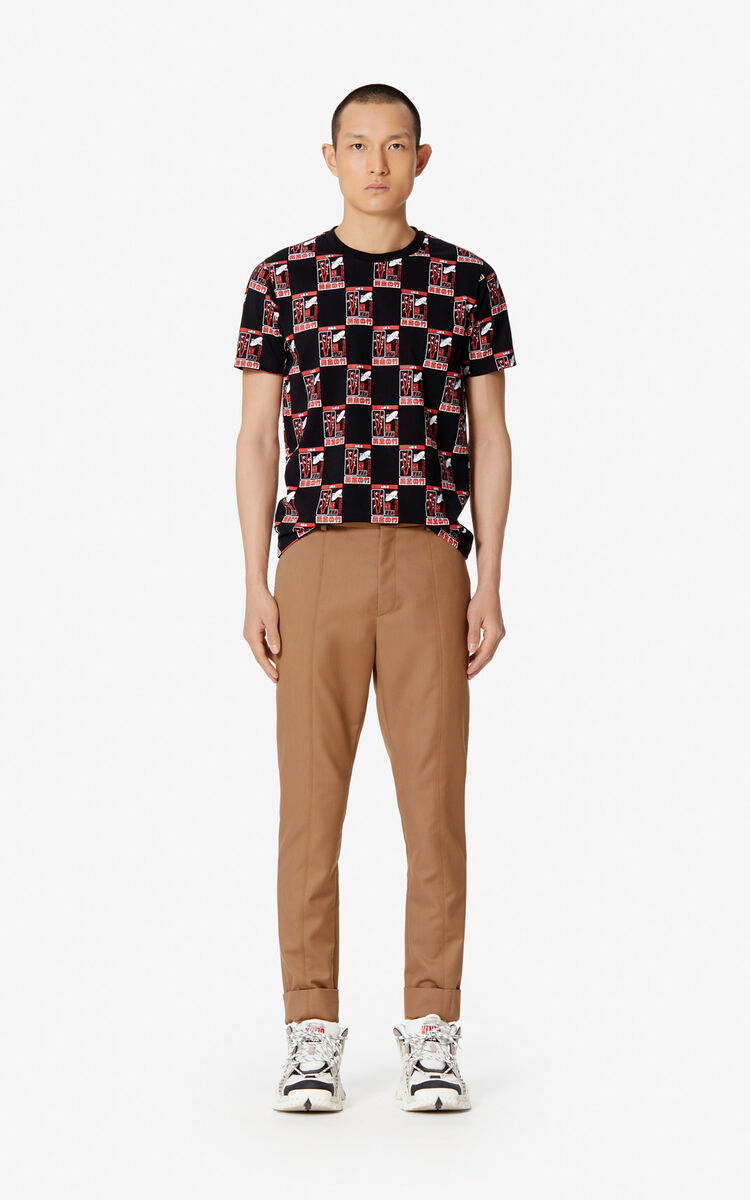 Cropped Straight Trousers Kenzo