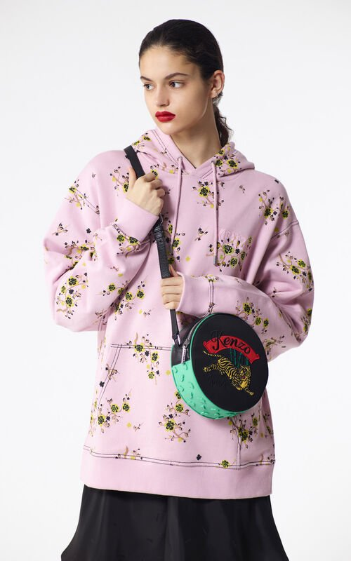PASTEL PINK 'Cheongsam Flower' hoodie for women KENZO