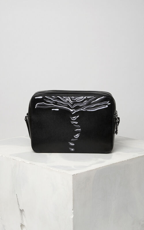 BLACK 'Crawling Tiger' Camera Bag for unisex KENZO