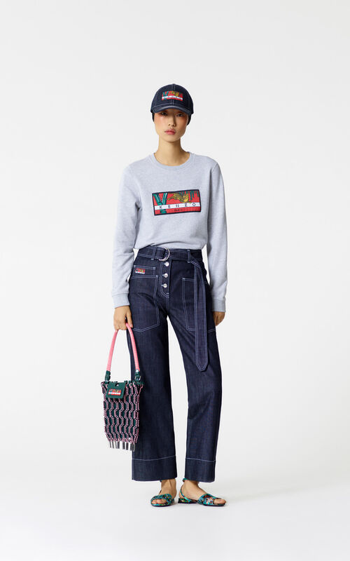 NAVY BLUE Carpenter jeans for women KENZO