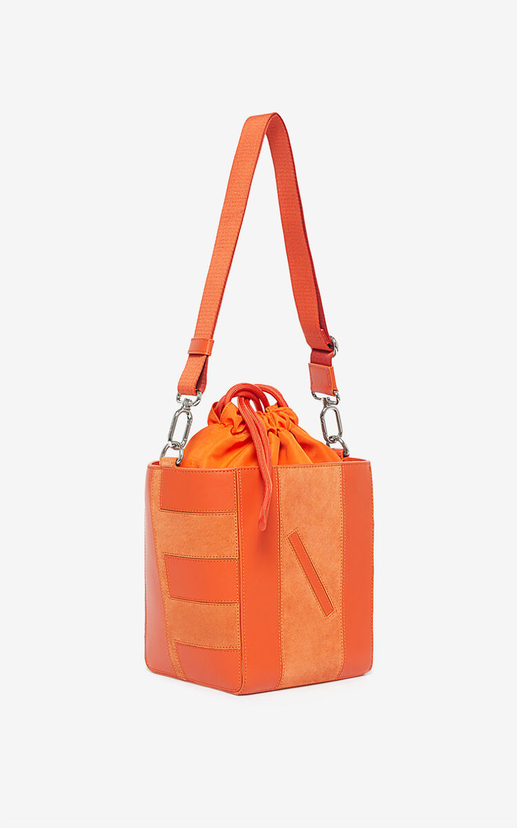 DEEP ORANGE Kube Small Tote Bag for unisex KENZO