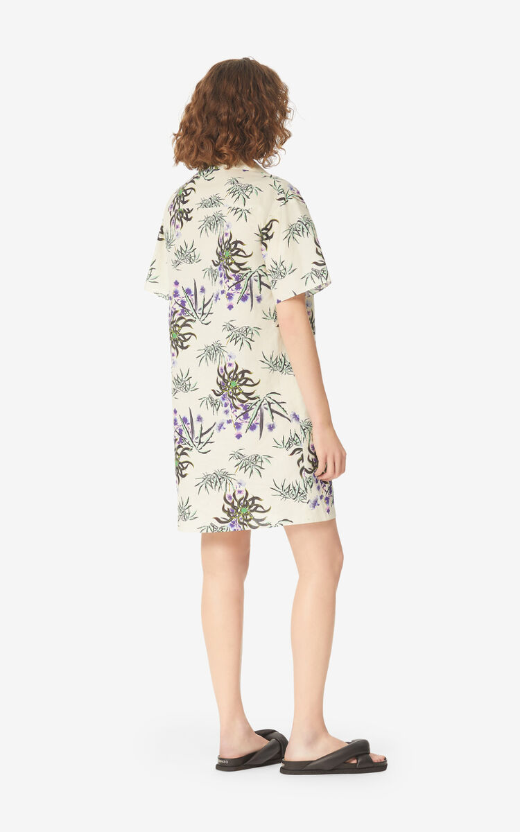 OFF WHITE 'Sea Lily' shirt dress for women KENZO
