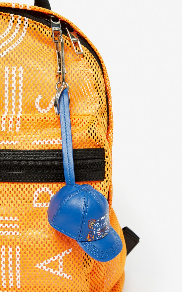 COBALT Tiger cap leather bag charm for unisex KENZO