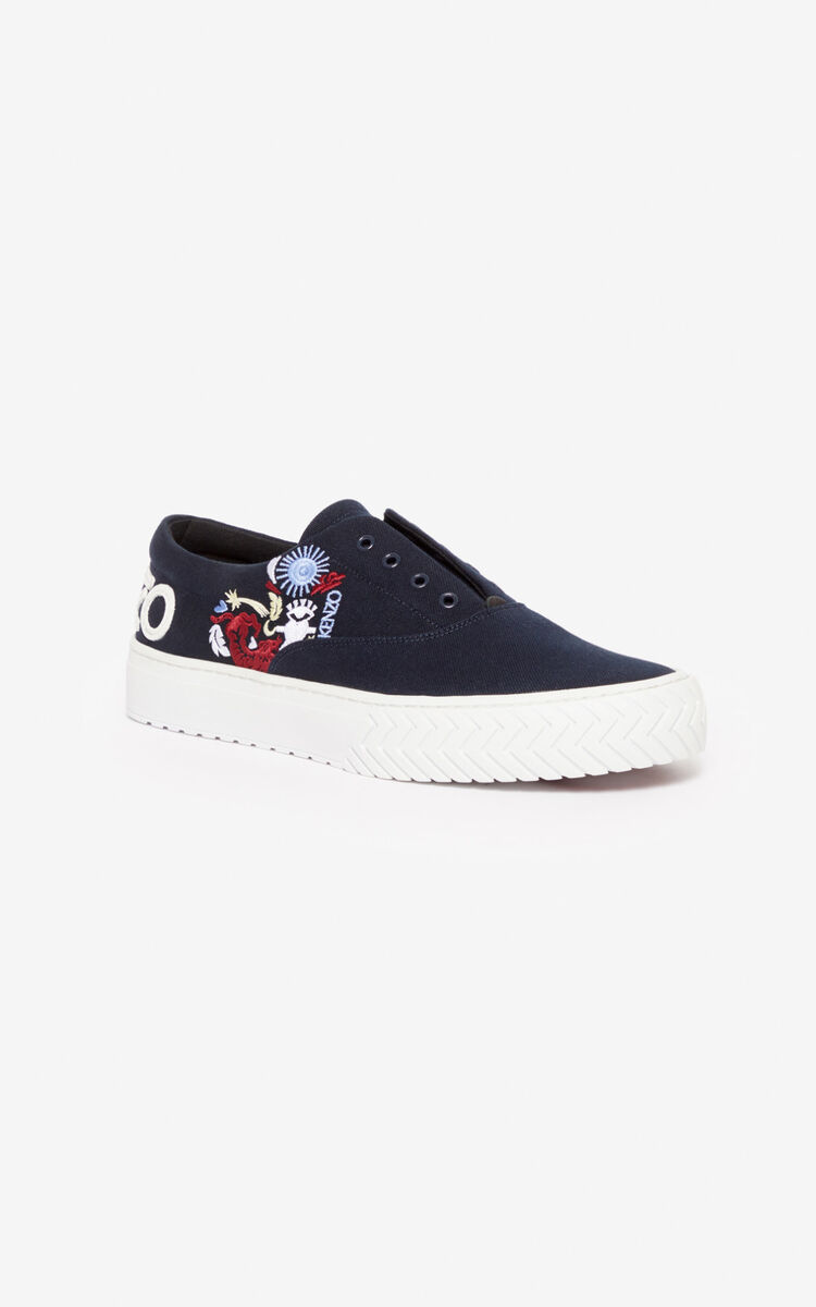 NAVY BLUE 'Valentine's Day Capsule' 'Lucky Star' K-Skate trainers for men KENZO