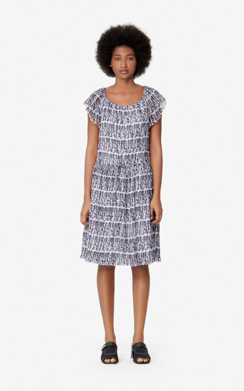 WHITE 'Mermaid' dress for women KENZO