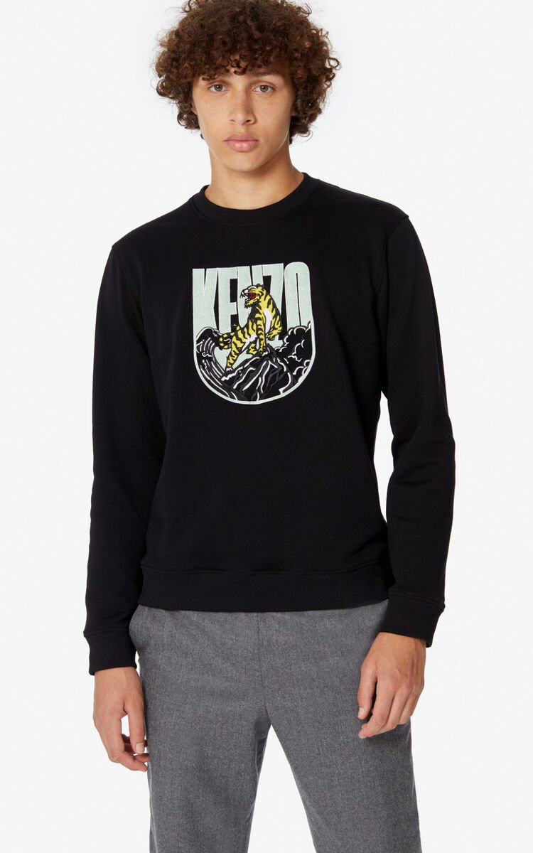 BLACK 'Tiger Mountain' 'Capsule Expedition' sweatshirt for men KENZO
