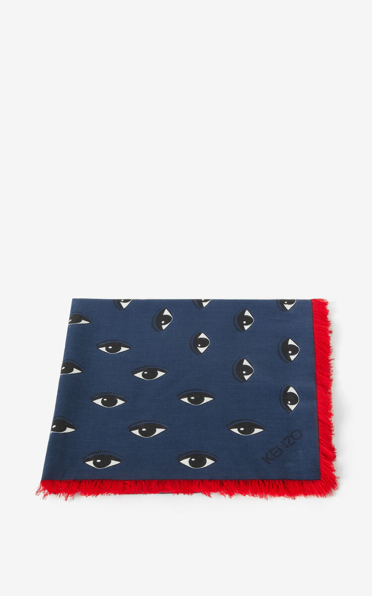 DUCK BLUE Large Multi Eyes square for unisex KENZO