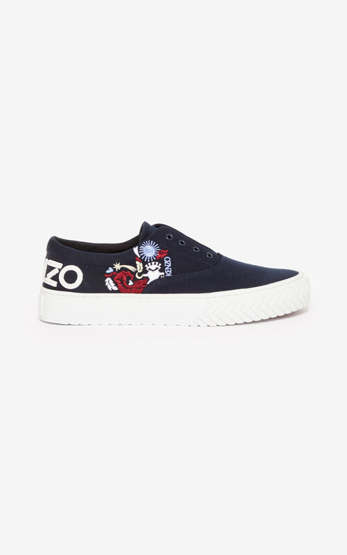 NAVY BLUE 'Valentine's Day Capsule' 'Lucky Star' K-Skate trainers for unisex KENZO