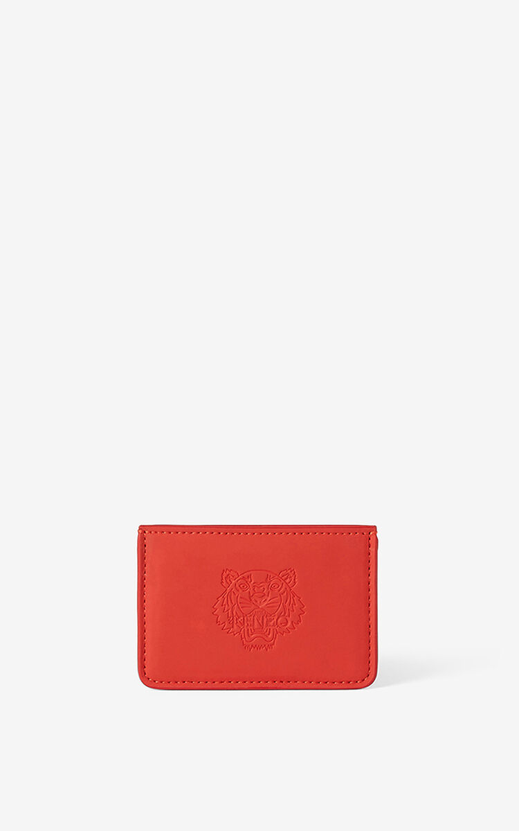 MEDIUM RED Preppy Tiger card holder for unisex KENZO