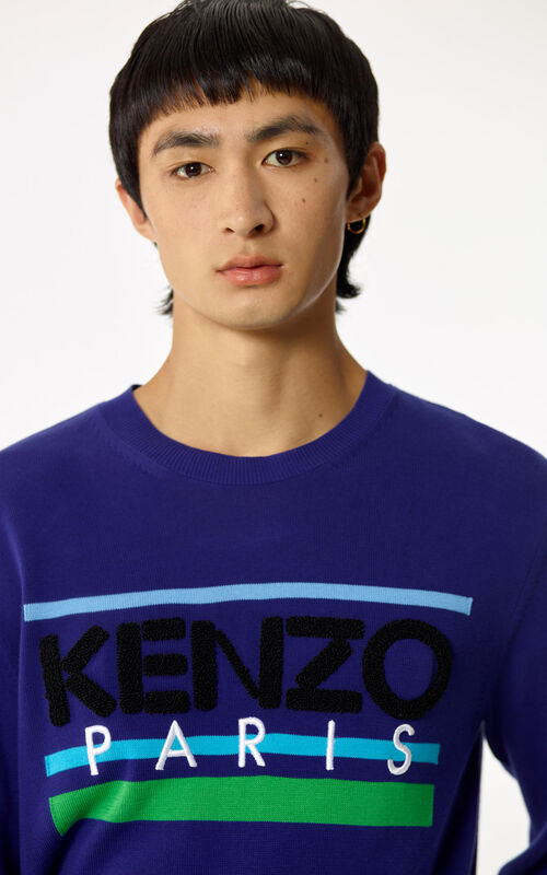 FRENCH BLUE KENZO Paris jumper for men