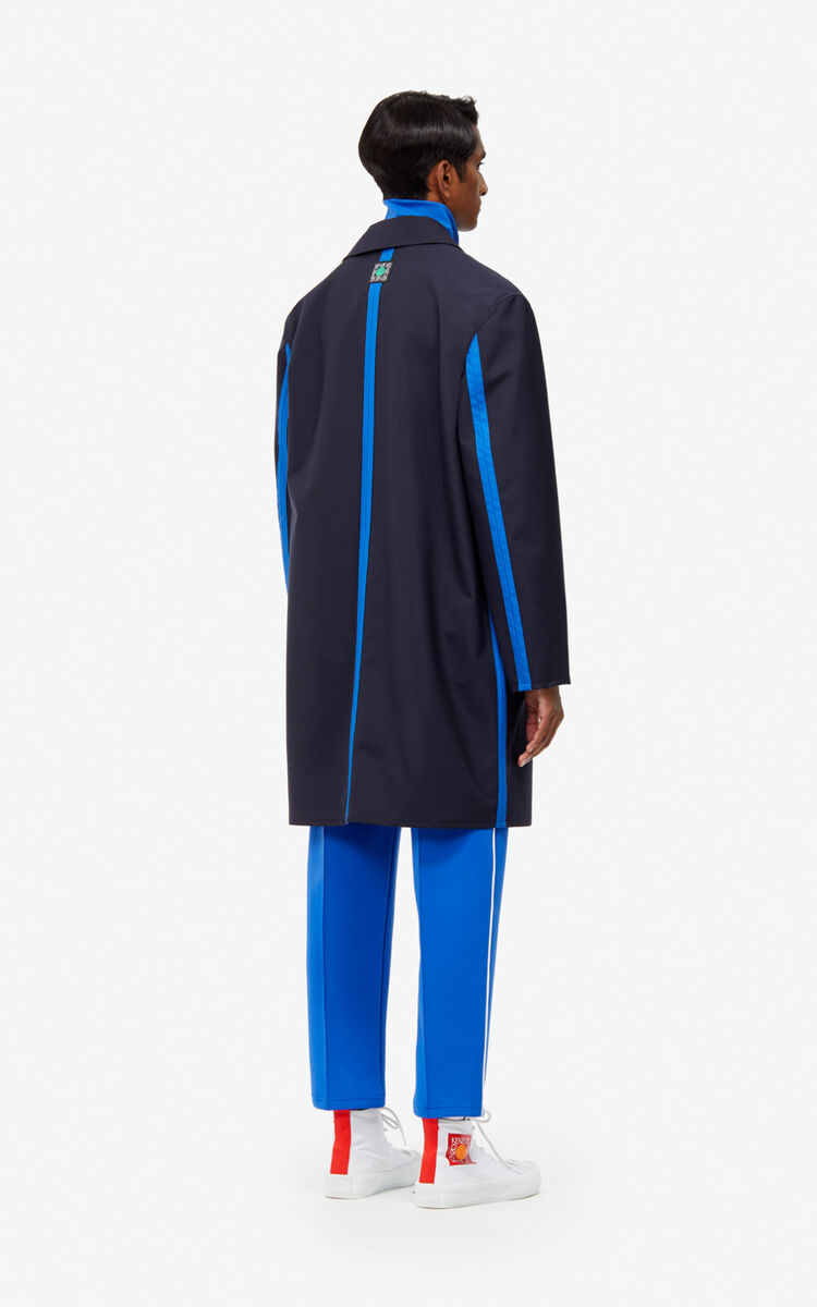 MIDNIGHT BLUE Two-tone trench coat for women KENZO