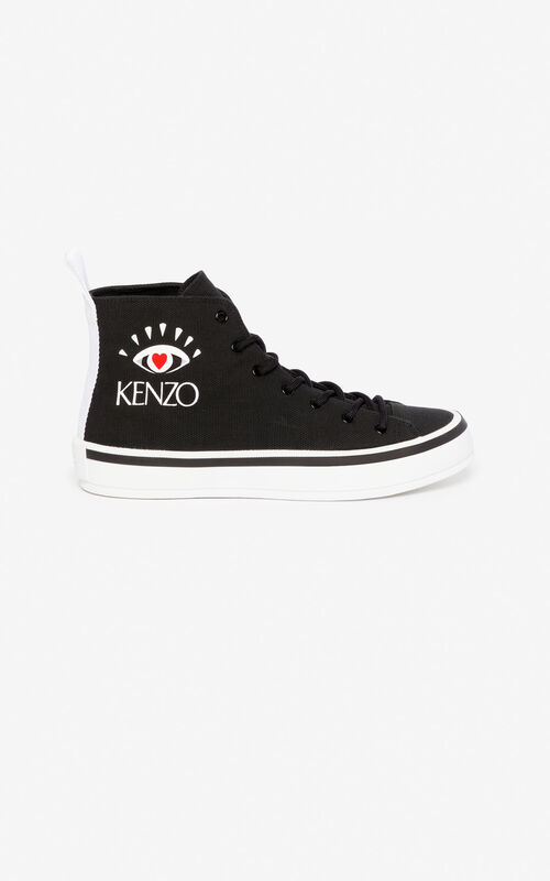 BLACK 'I ❤ KENZO Capsule' K-Street sneakers for unisex