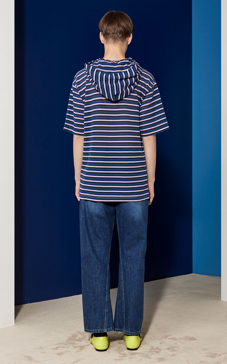 MIDNIGHT BLUE Hooded T-shirt for men KENZO