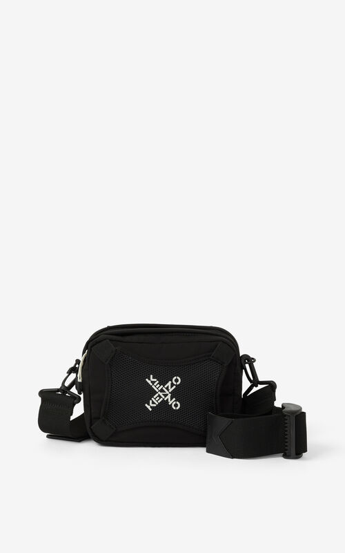 BLACK KENZO Sport 'Little X' bag for unisex
