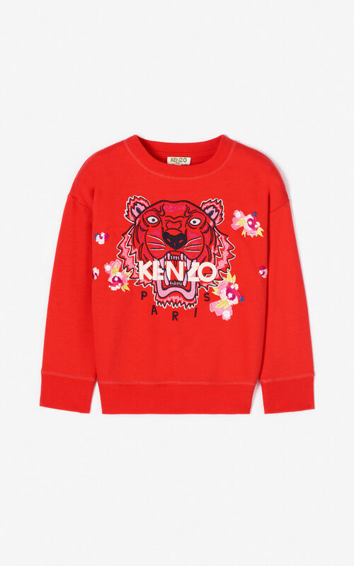 MEDIUM RED Tiger sweatshirt KENZO