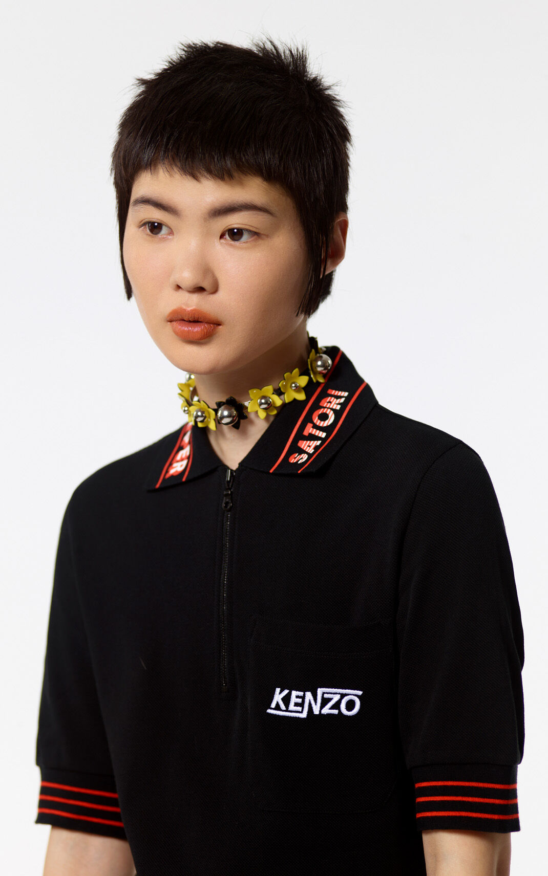 BLACK 'Hyper Kenzo' polo dress for women