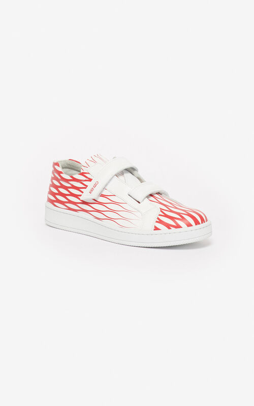 MEDIUM RED 'Fishnet' Tennix sneakers for unisex KENZO