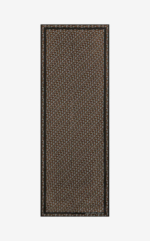 DARK BROWN Monogrammed silk stole for unisex KENZO