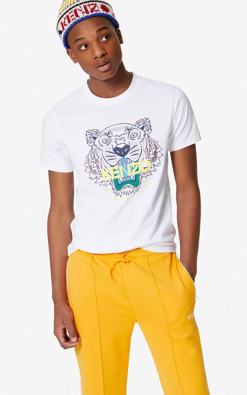 1c5e428ecdd4 WHITE Tiger T-shirt for men KENZO ...