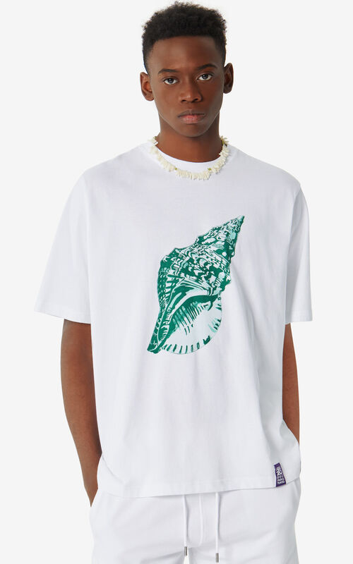 WHITE 'Seashell' 'High Summer Capsule Collection' T-shirt for men KENZO
