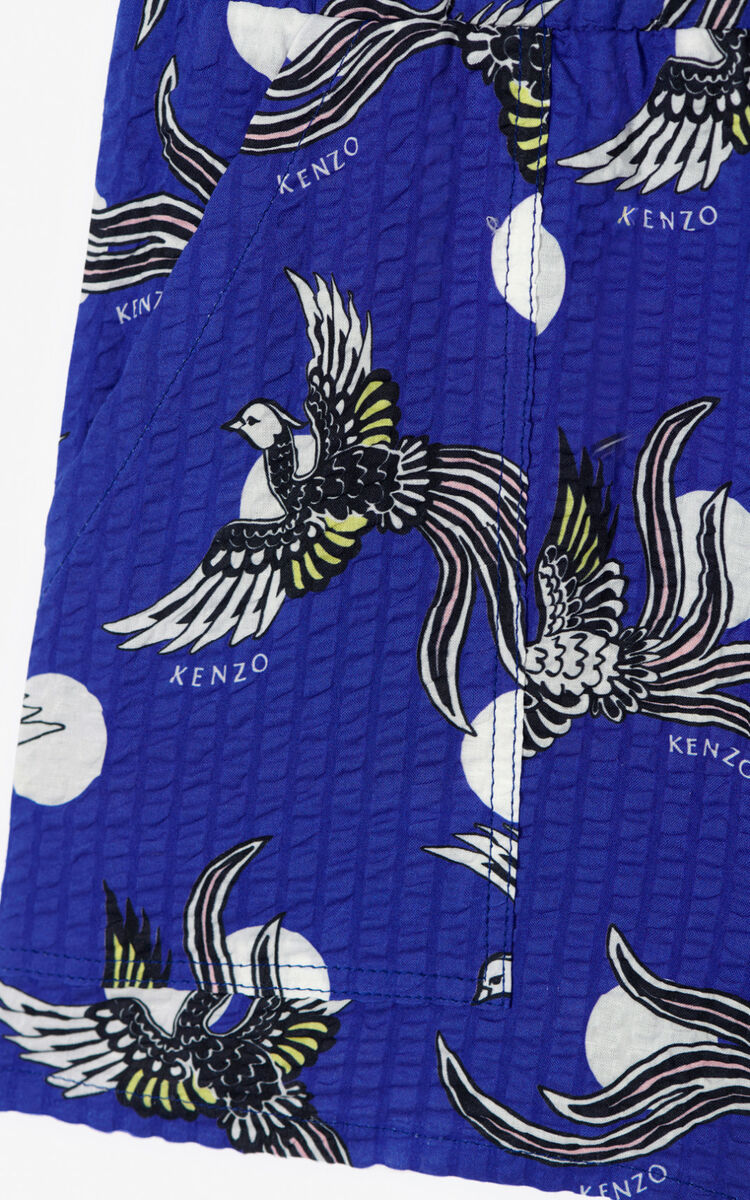COBALT 'Phoenix Celebration' textured shorts for women KENZO