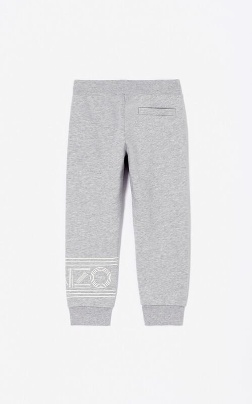 MIDDLE GREY KENZO Logo joggers for men