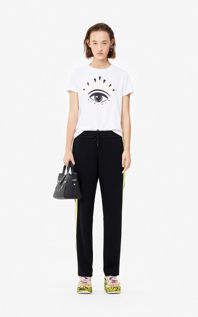 WHITE Eye t-shirt for women KENZO